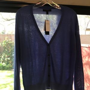 Periwinkle button-up sweater